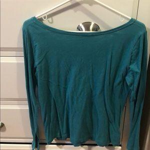 LOFT Tops - LOFT long sleeve teal top. Size M.